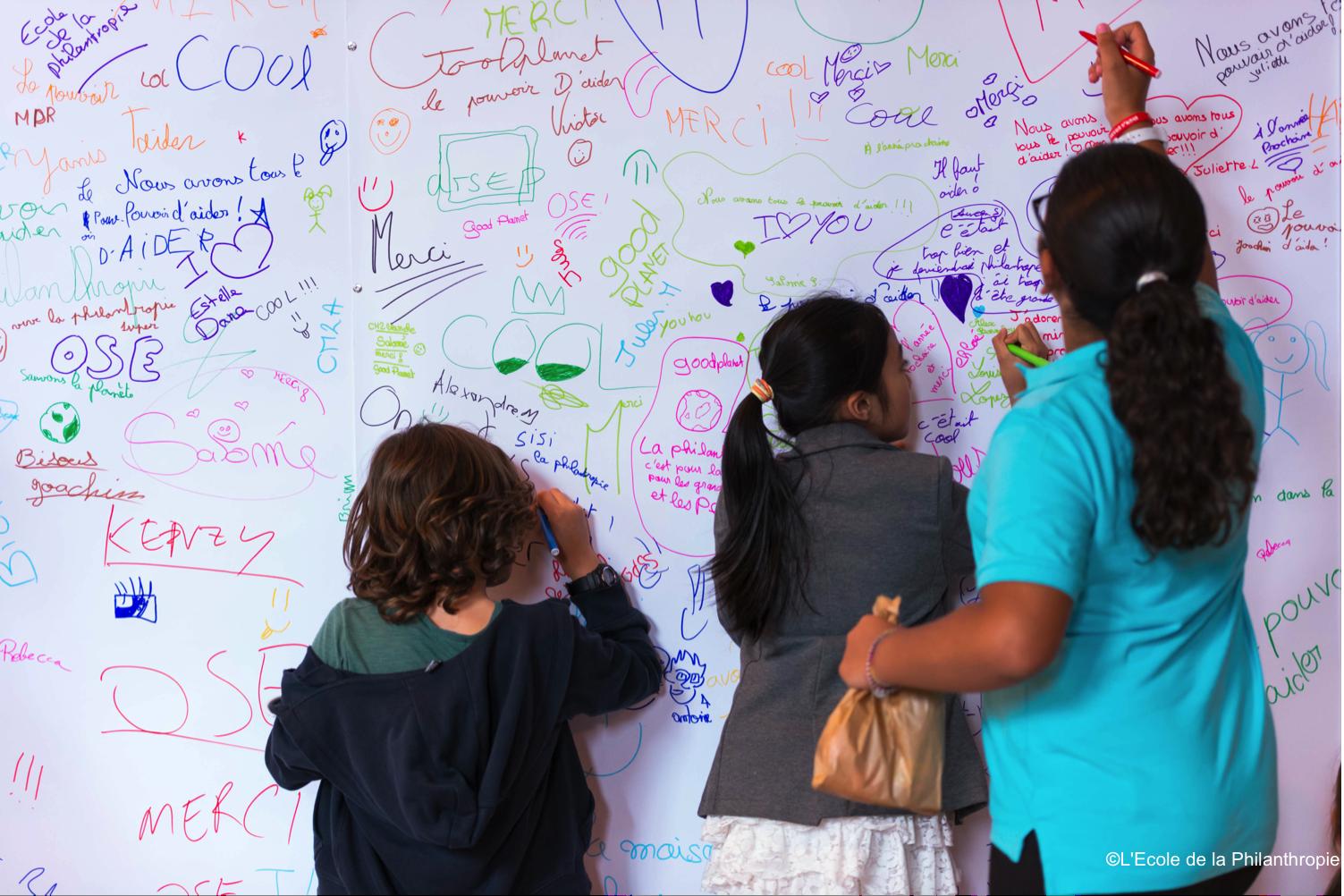 Journée de la Philanthropie juin 2013 - Le mur des voeux pour le futur